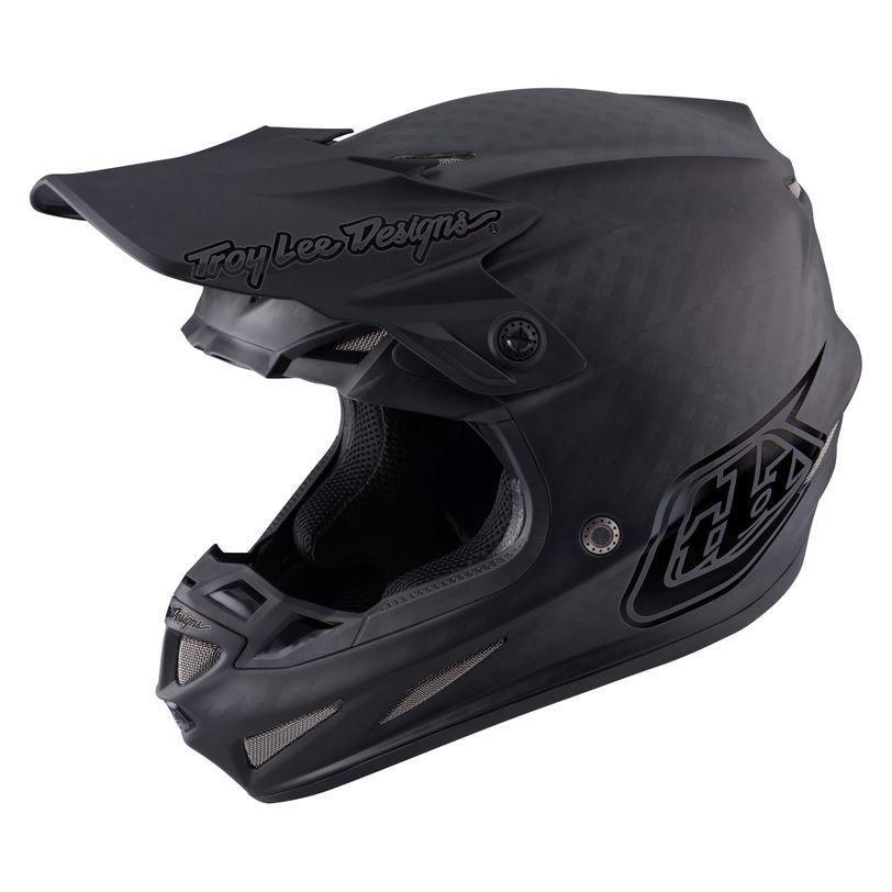 Casco da moto SE4 Carbon Midnight in carbonio con tecnologia MIPS e 20 prese d'aria