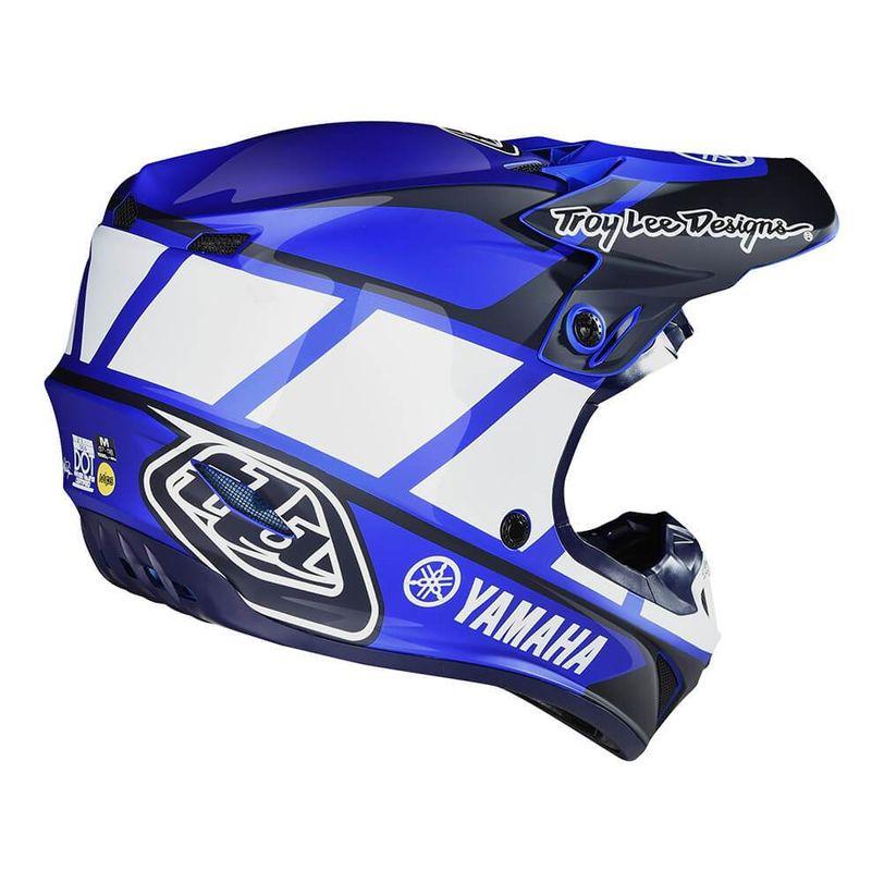 Casco da moto SE4 Polyacrylite Yamaha RS1 in policarbonato con tecnologia MIPS e 16 prese d'aria