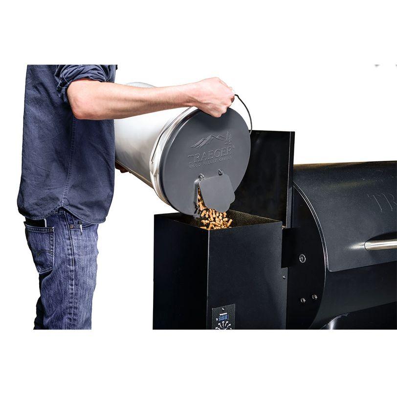 Coperchio per dosare e filtrare pellet Traeger