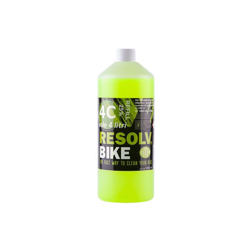 Detergente ricarica Resolvbike®Clean 4C da 1 litro per lavaggio bici e moto