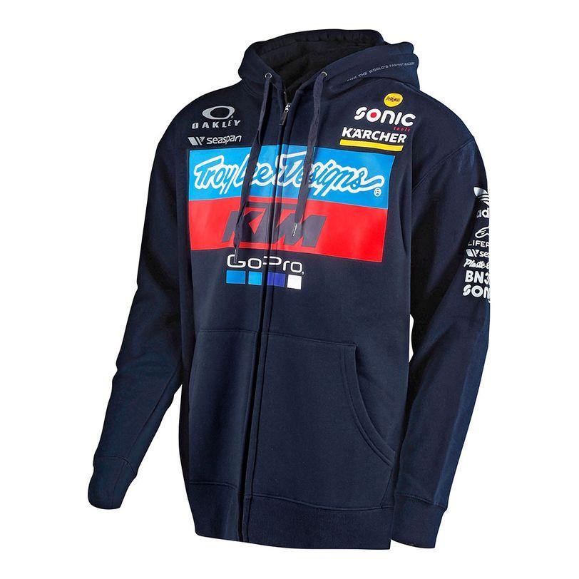 Felpa TLD KTM Team Zip up con cappuccio da adulto NEW