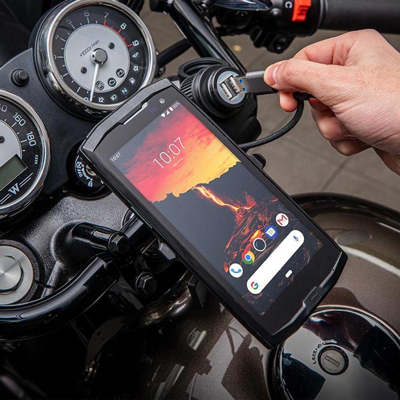 Fissaggio per moto e stazione di ricarica X-Ride per telefono