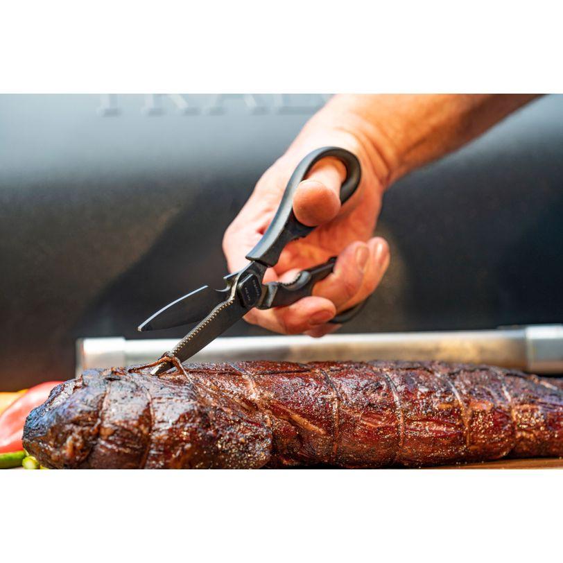 Forbice con lame rivestite in titanio per barbecue Traeger