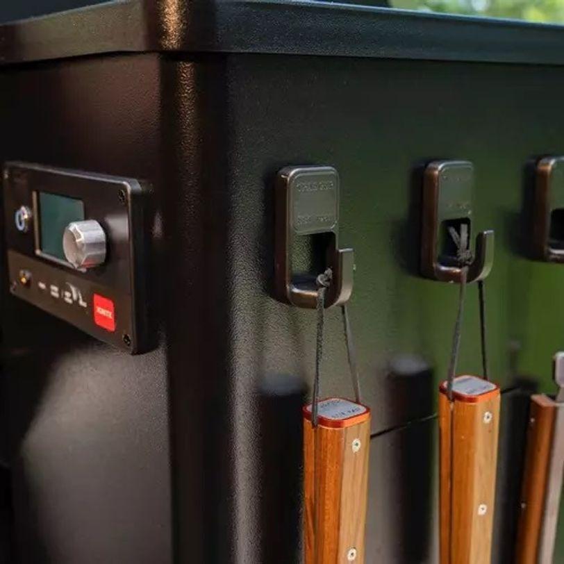Ganci magnetici con rivestimento in titanio per BBQ - 3 pz