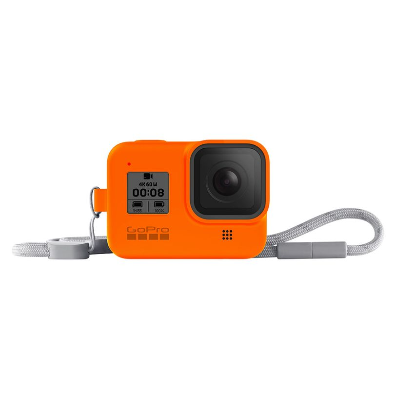 Guaina in silicone con lanyard GoPro HERO8 Black - Arancione