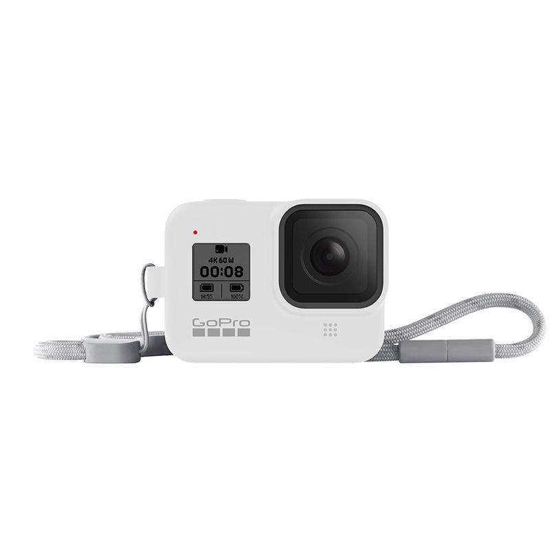 Guaina in silicone con lanyard GoPro HERO8 Black - Bianco