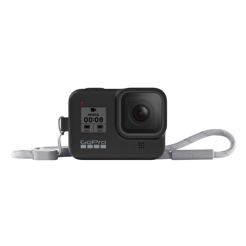 Guaina in silicone con lanyard GoPro HERO8 Black - Blackout