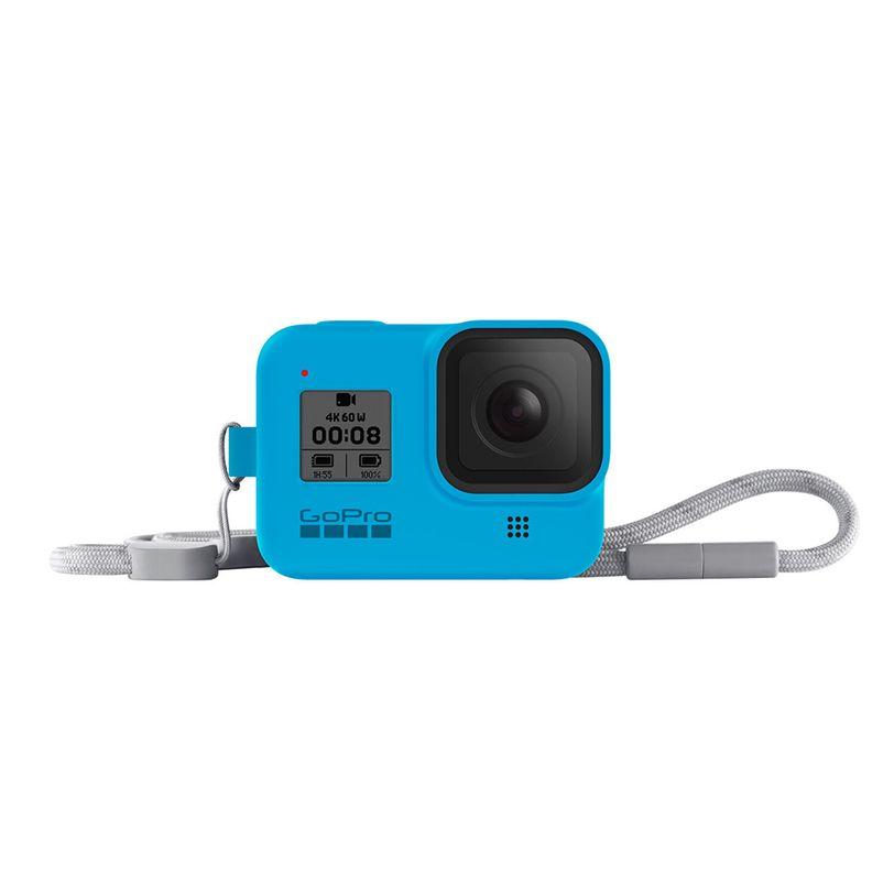 Guaina in silicone con lanyard GoPro HERO8 Black- Onda Blu