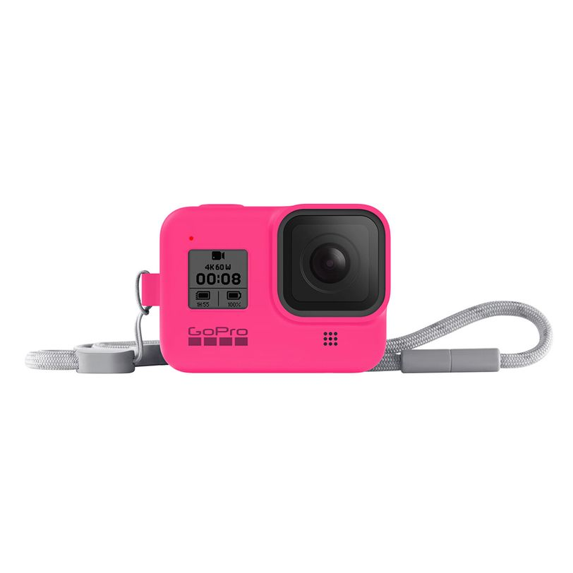 Guaina in silicone con lanyard GoPro HERO8 Black - Rosa