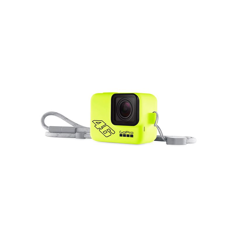 Guaina in silicone con lanyard GoPro VR46 Edition - Neon Yellow