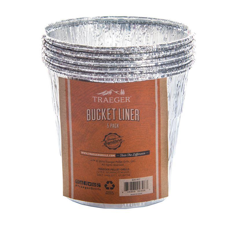 Inserto per secchiello raccogligrasso in alluminio Traeger Bucket Liner 5 pz