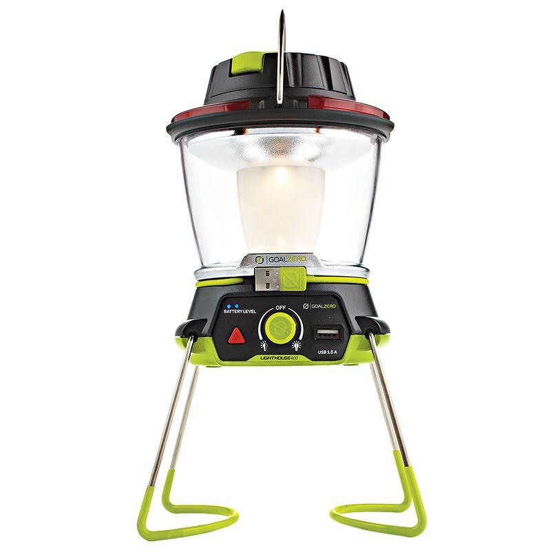 Lanterna Goal Zero Lighthouse 400 ricaricabile da 400 lumen con dinamo e power bank
