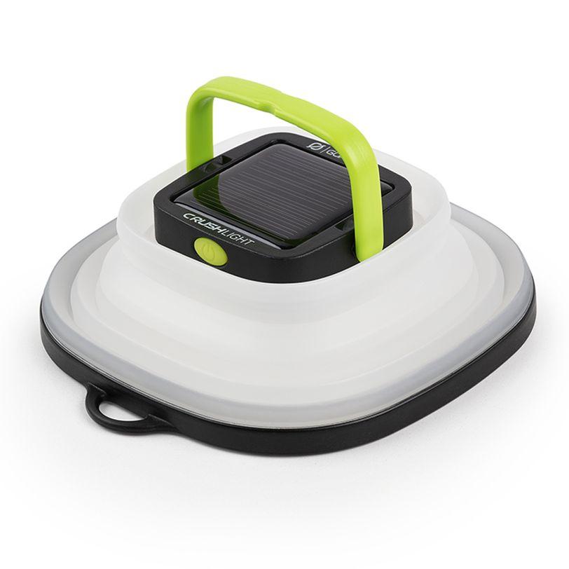 Lanterna pieghevole bianca Goal Zero Crush Light con pannello solare integrato