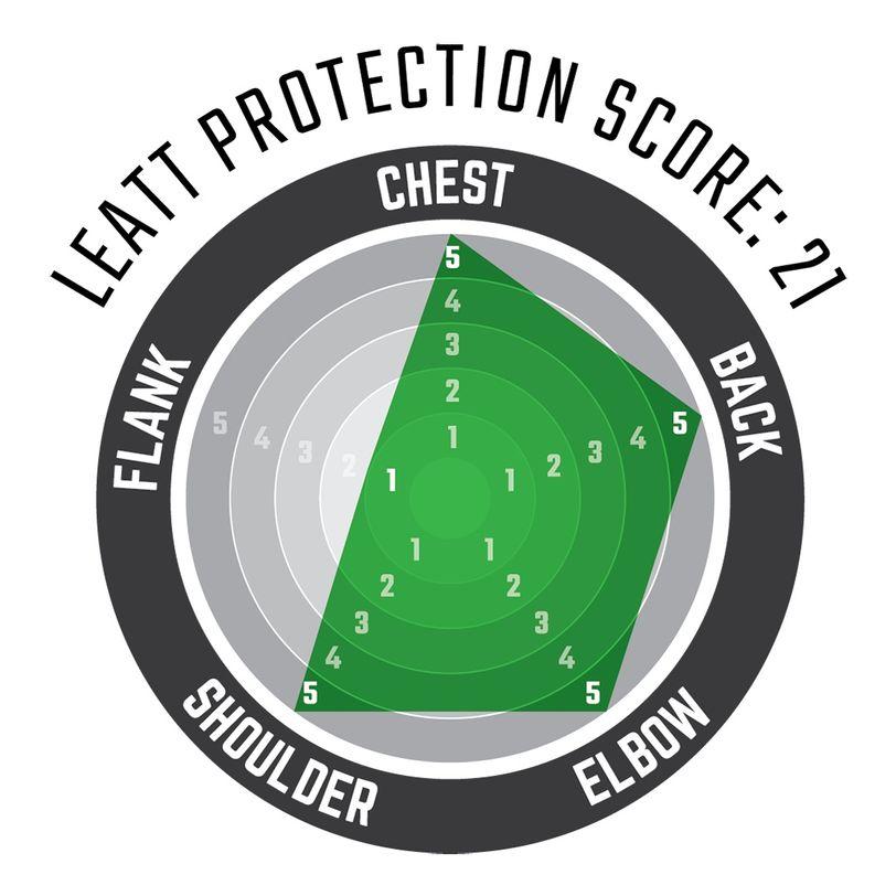 Maglia protettiva di livello 2 a maniche lunghe 3DF AirFit con schiuma anti impatto