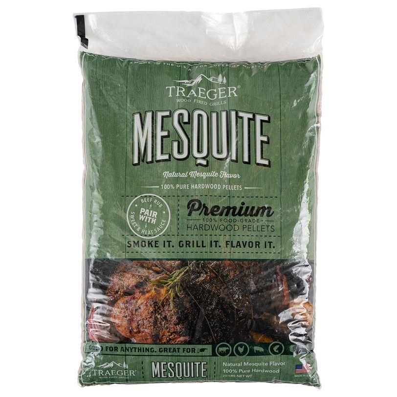 Pellets da legno Mesquite naturale al 100% per barbecue a pellet - 9 kg