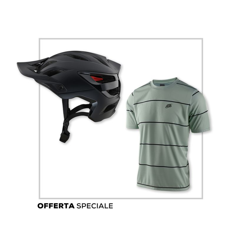 Promo kit Casco MTB A3 Uno e maglia MTB Flowline Troy Lee Designs