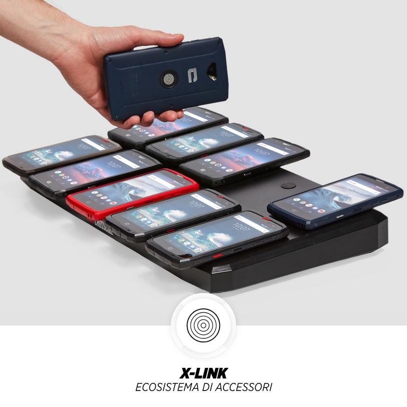 Smartphone resistente Core-X4 con touch ID e dual sim